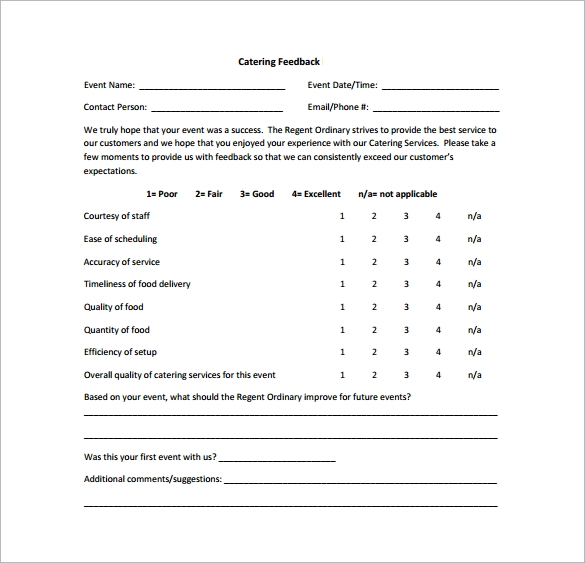 9 feedback survey templates download for free