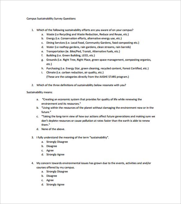 survey question template