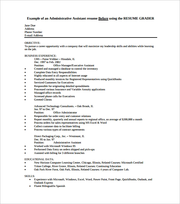 sample office assistant resume3