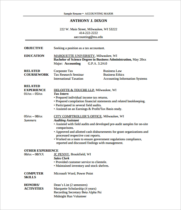 sample professional academic resume1