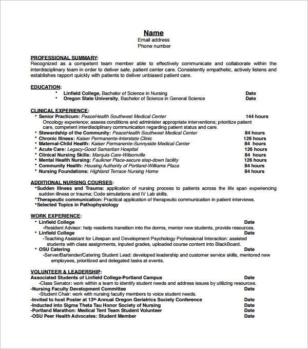 the certified nursing assistant resume health