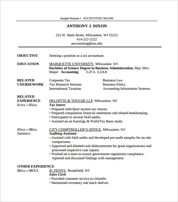 accounting resume template1