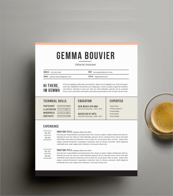 media resume template