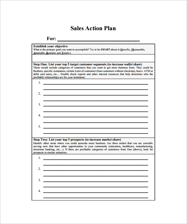 Sample Action Plan Template   22+ Download Free Documents In Word, PDF