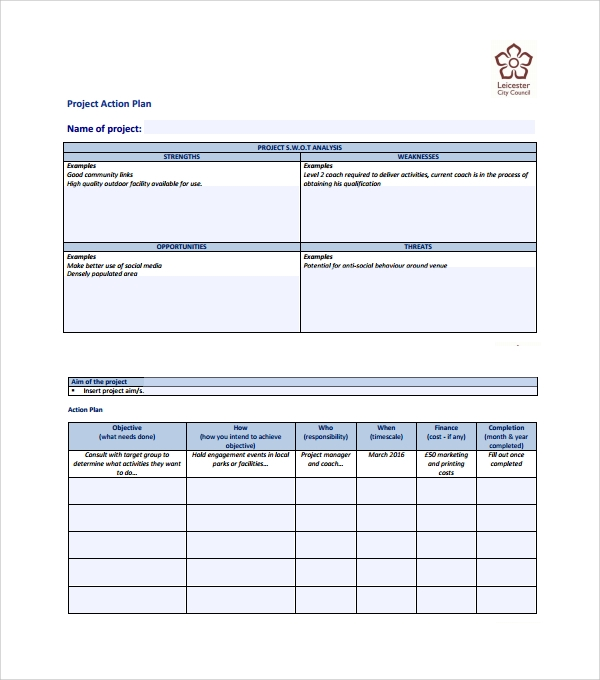Sample Action Plan Template   Download Free Documents In Word Pdf