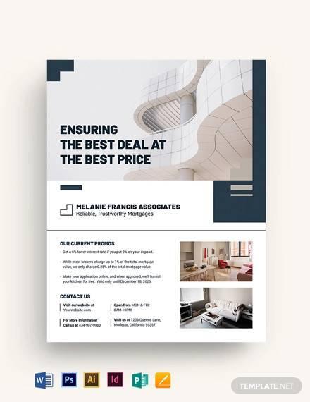 apartment condo mortage broker flyer template
