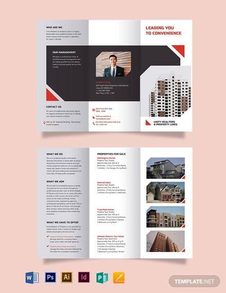 apartment condo realtor brochure tri fold brochure template