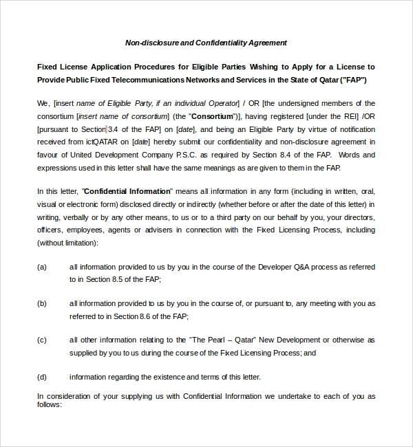 basic real estate confidentiality agreement