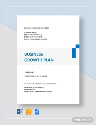 business growth plan templates
