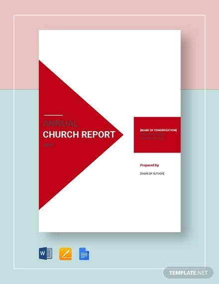 church report template