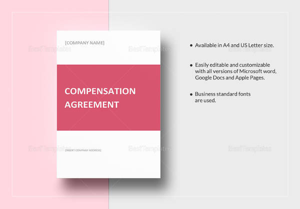 editable compensation plan template