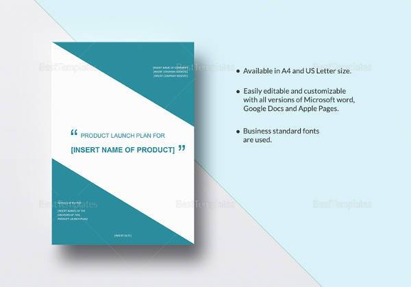 editable product launch plan template