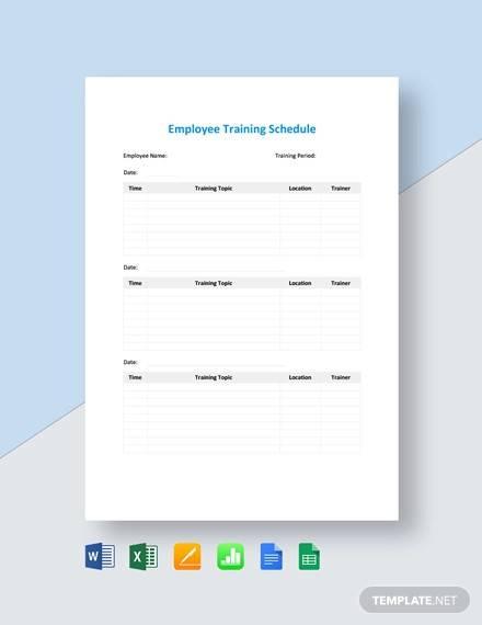 employee training schedule template1