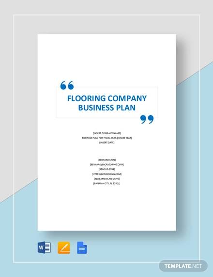 flooring company business plan template