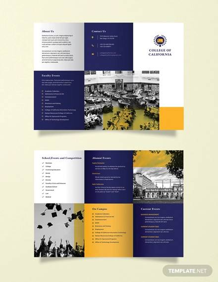free college event brochure template