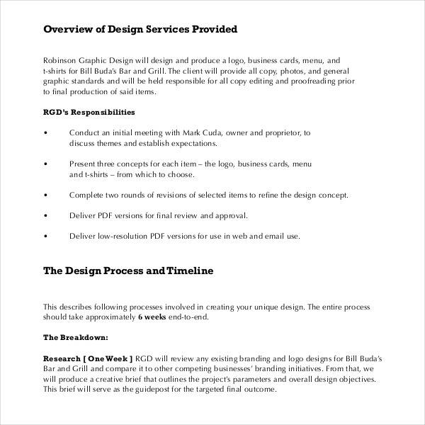 Sample Graphic Design Proposal Template   Free Documents In Pdf Word