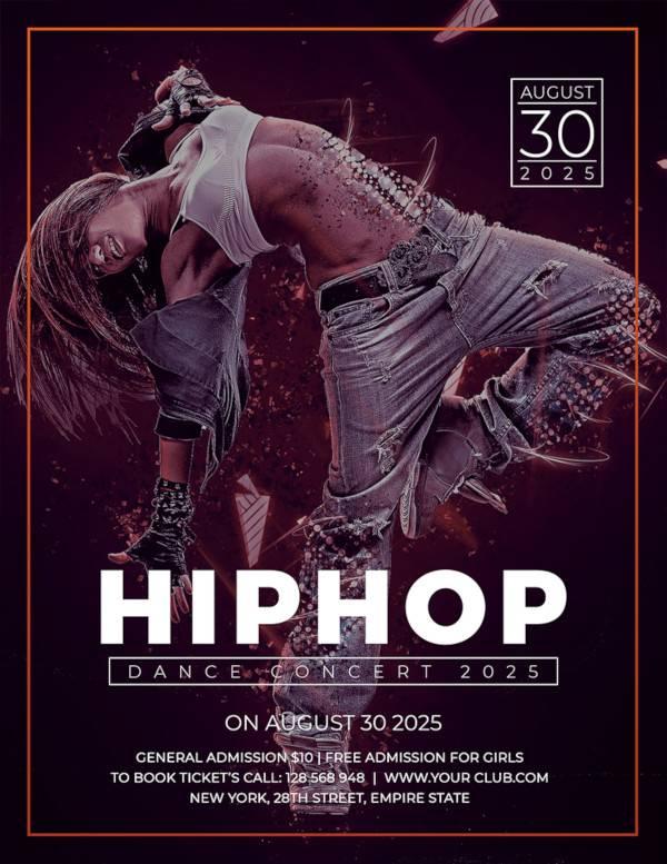 free hip hop concert flyer template