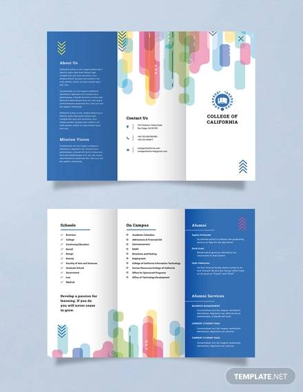 free modern college brochure template