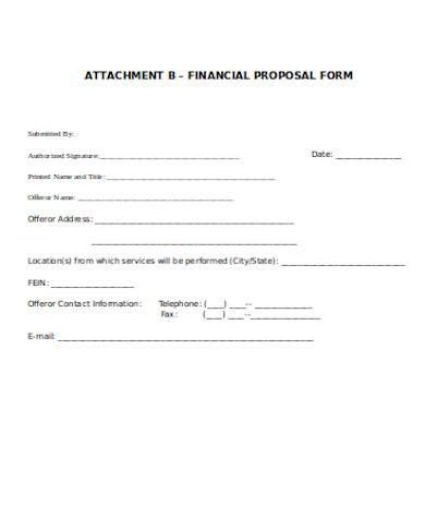 general financial proposal form