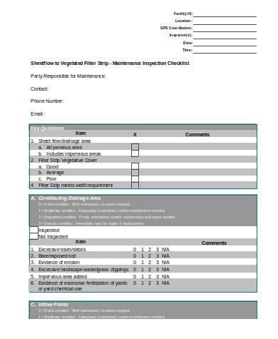 general maintenance checklist
