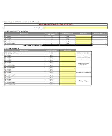 general price proposal form