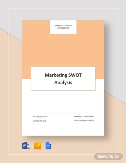 marketing swot analysis template