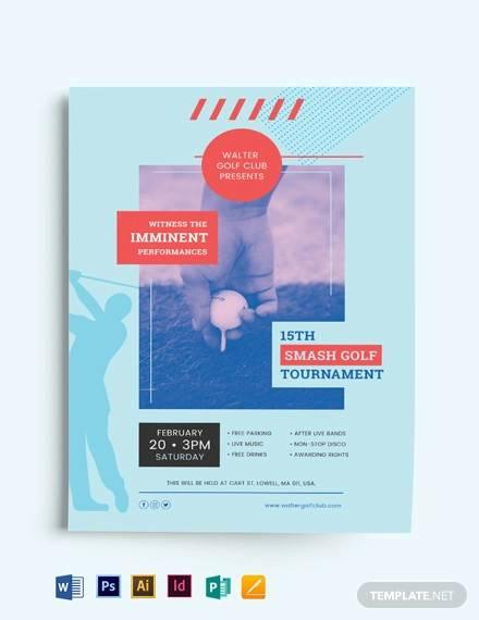 modern golf flyer template