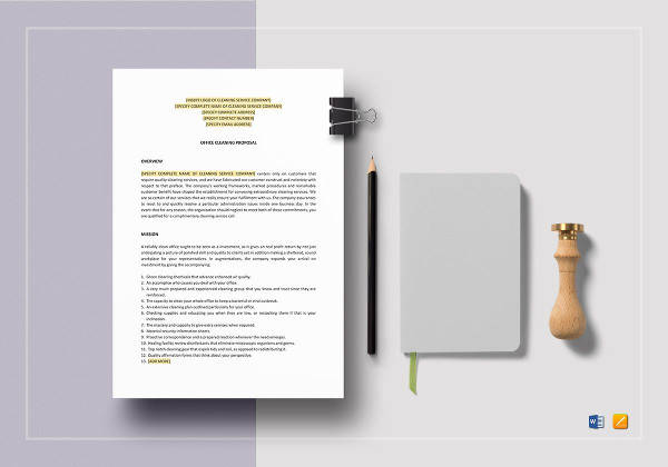 16  cleaning proposal templates