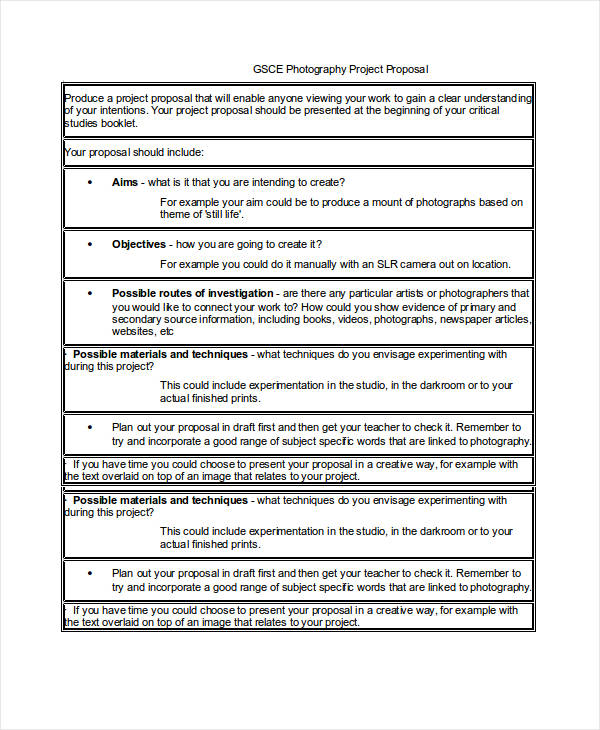 photography proposal template doc
