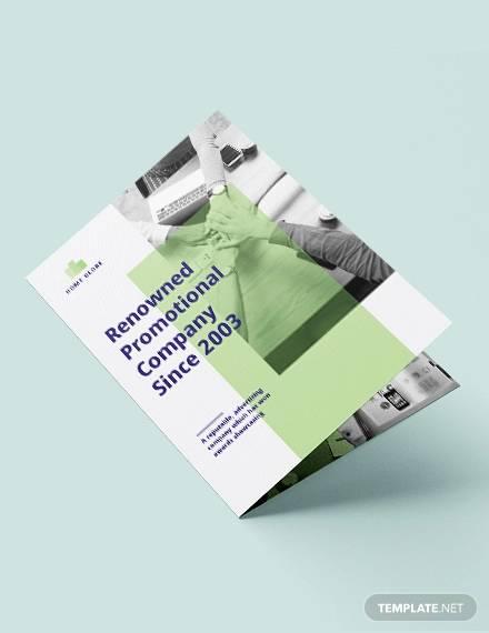 promotional bi fold brochure template