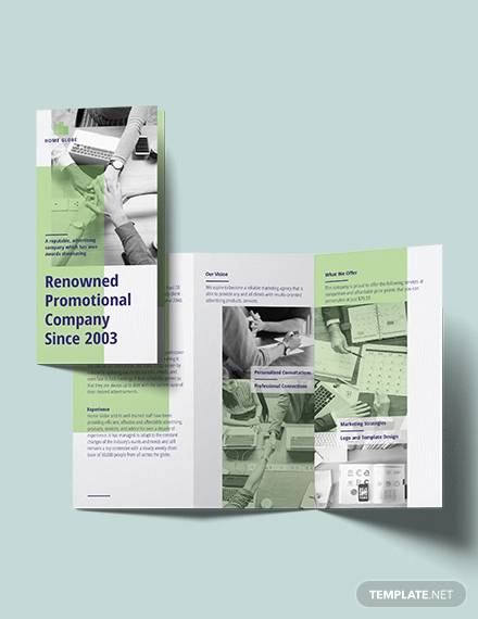 promotional tri fold brochure template