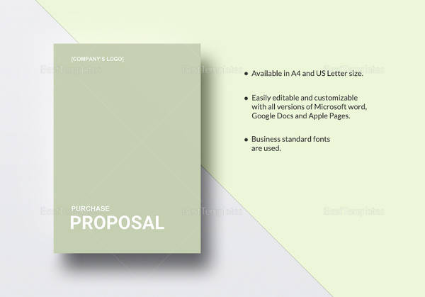 sample purchase proposal template 15 free documents in pdf word