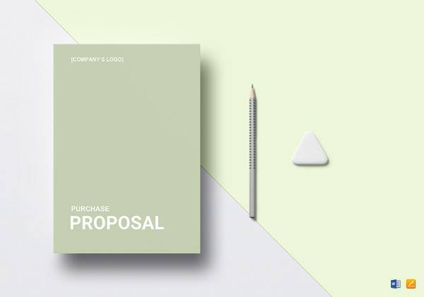 purchase proposal word template