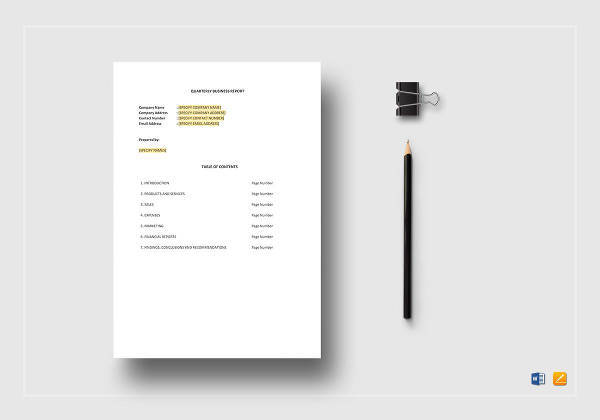 quarterly business report template