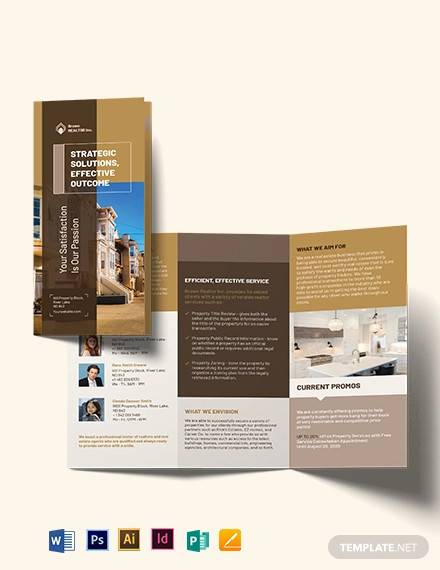 realtor self promotion tri fold brochure template