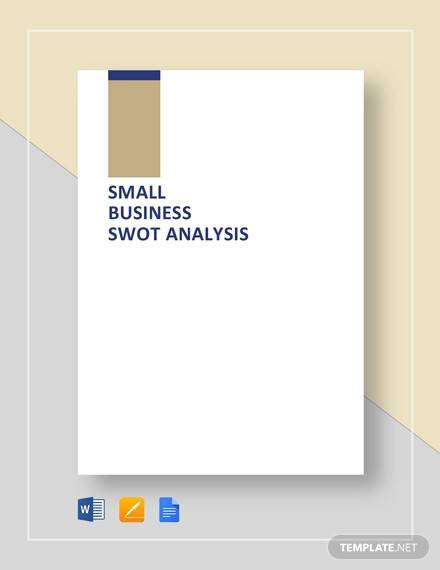 swot analysis template for small business template