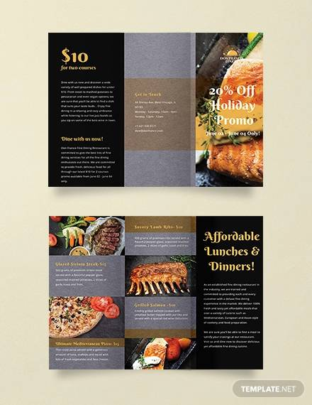 sale promotion brochure template