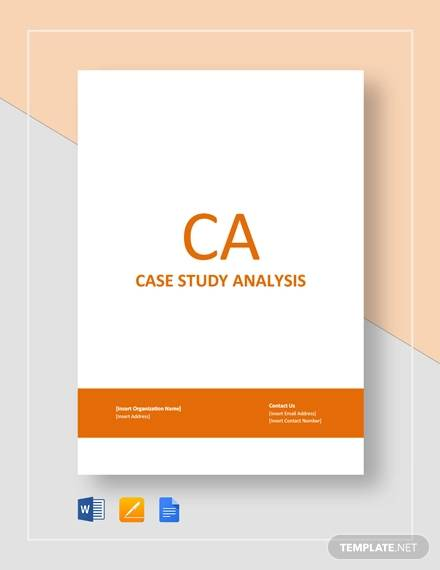 9 Sample Case Analysis Templates Word PDF