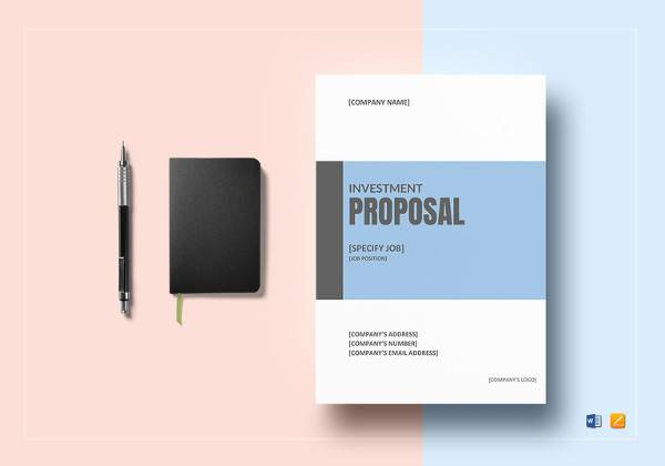 Sample Investment Proposal Template