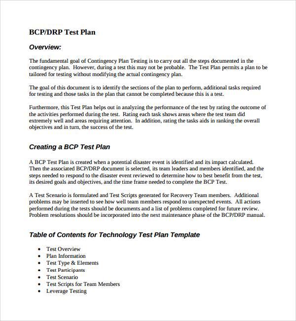 11 Testing Plan Templates Pdf Word
