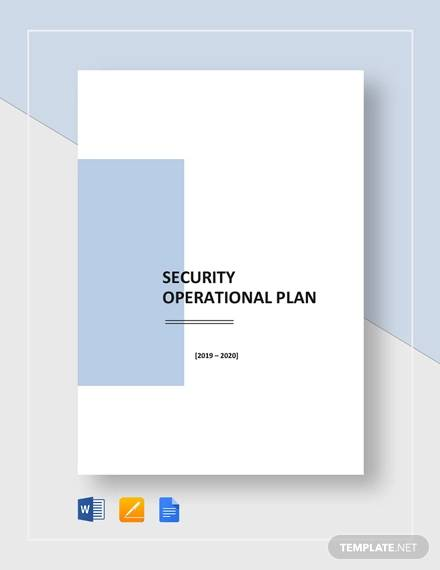 security operational plan template