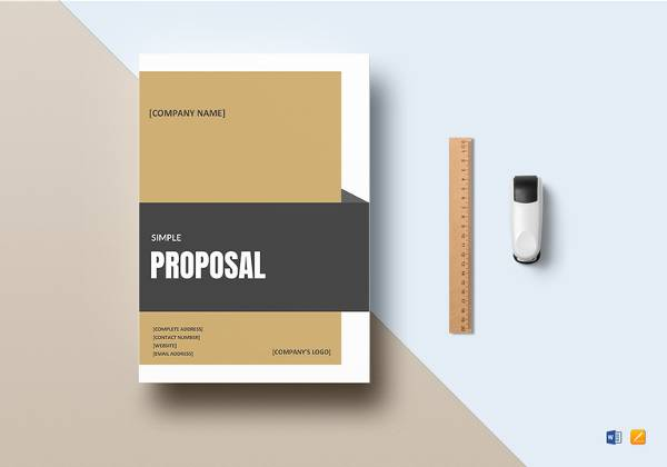 simple proposal template word