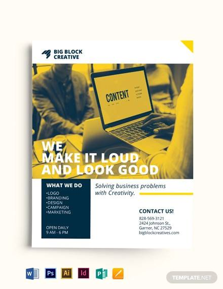 small business advertising flyer template