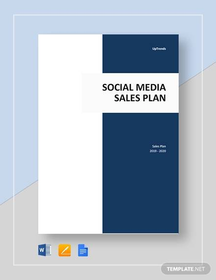 social media sales plan template