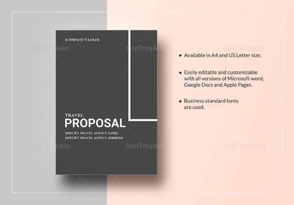 sample travel proposal template 12 free documents in pdf