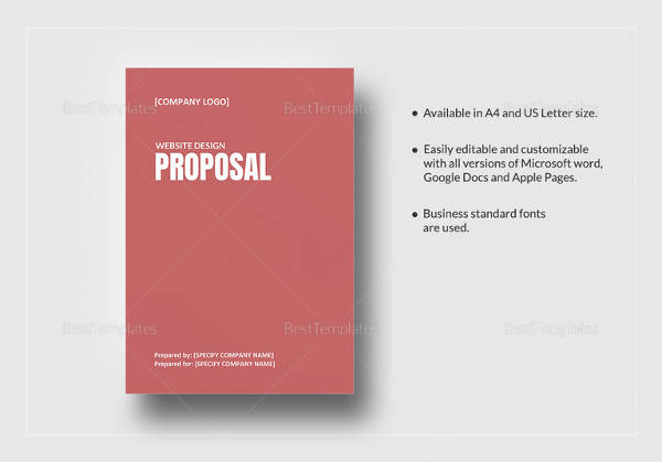 Website Design Proposal Template In Word