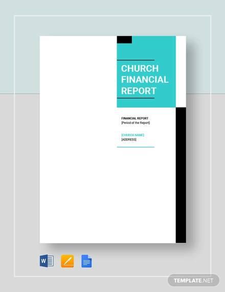 church finacial report