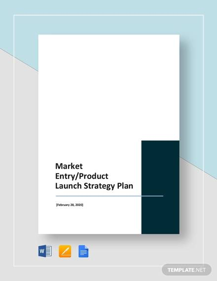 market entry or product launch