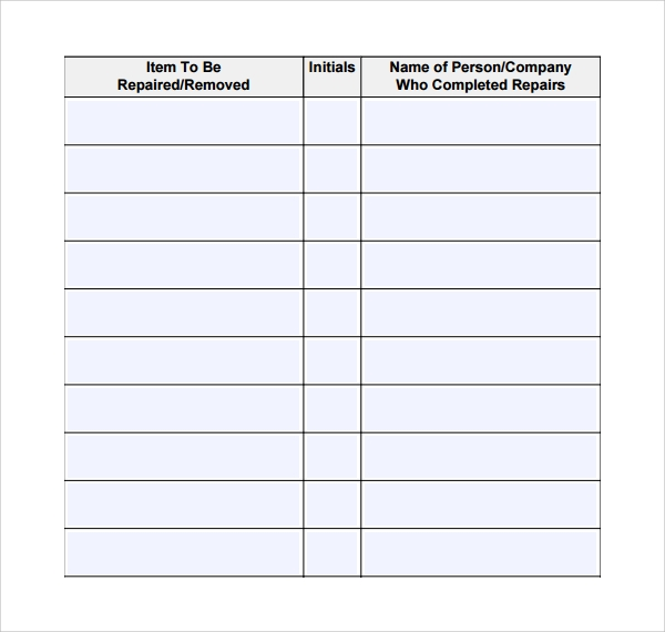 Repair log template 9 download free documents in pdf excel for Equipment log book template