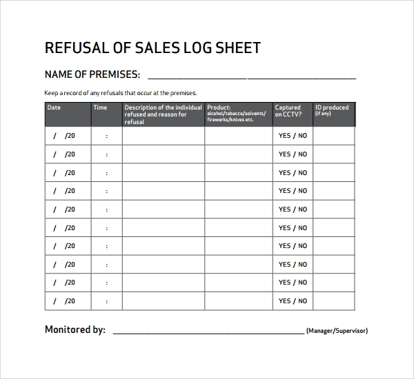 refusal sale log pdf%ef%bb%bf
